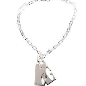 """Gucci double G tag pendant bracelet.7"""""""